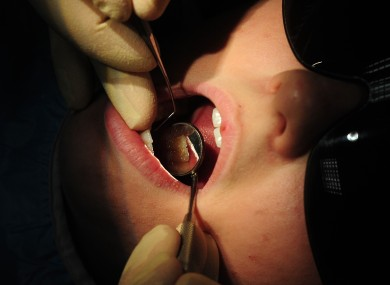 General view of A dentist at work