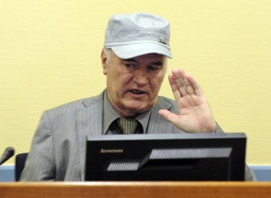 Ratko Mladic at a Hague hearing in June 2011.
