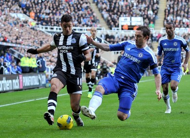Hatem Ben Arfa (left) and Frank Lampard.