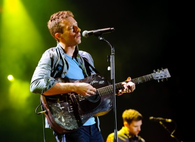 Coldplay's Chris Martin: the band may yet have a chance to play Slane 2012, thanks to a legal tweak by Phil Hogan.