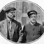 Mr Threlfall, Leading Stoker on the Titanic, (left) later gave evidence that he saw the closing of the water-tight doors, and how Captain Smith, at the last, gave the command