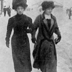 An unidentified stewardess from Titanic (on left) with Mrs Slocumbe, who was manageress of the Turkish baths on the ship. (Topham/Topham Picturepoint/PA Images)