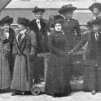 Surviving Titanic stewardesses who were rescued by the RMS Carpathia. (Topham/Topham Picturepoint/PA Images)