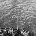 An uncrowded lifeboat of the Titanic being rowed slowly towards the RMS Carpathia immediately before the rescue of the passengers. (Topham/Topham Picturepoint/PA Images)