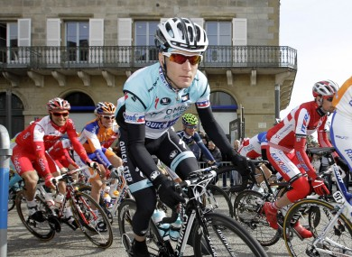 Leipheimer in action during last month's Paris-Nice.