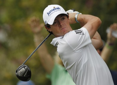 Rory McIlroy: back at Augusta