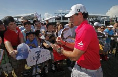 Going dark: Rory gives up the Twitter as he heads for Augusta