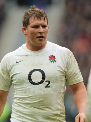 Hartley playing for England.