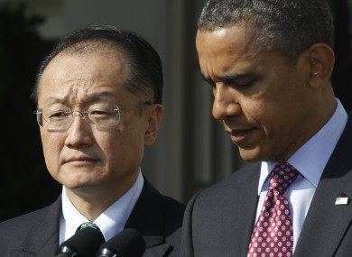 Jim Yong Kim with President Obama