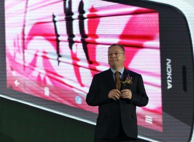 Nokia CEO Stephen Elop last month