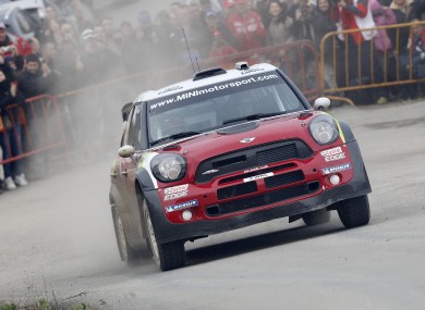 Donnelly will drive the Mini Cooper WRC through the streets of Dublin.