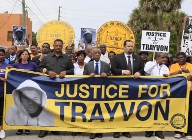 Jesse Jackson and Al Sharpton lead a march for Trayvon Martin last month