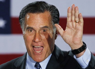 Romney after his victory last night