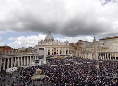 Over 100,000 people attended Easter Sunday Mass in St Peter's Square this morning.