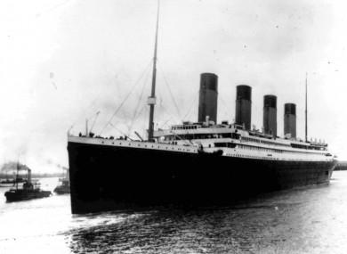 The Titanic leaving Southampton on April 10 1912