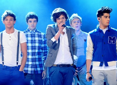 File photo dated 18/11/11 of One Direction performing