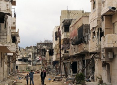 Photo taken in Homs, Syria on 15 April.