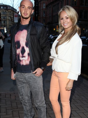 Stephen Ireland and Jessica Lawlor at the launch of Man City's Joleon Lescott's fashion range in Manchester this week.