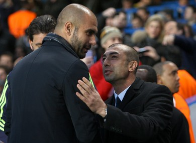 Pep and Roberto: little and large