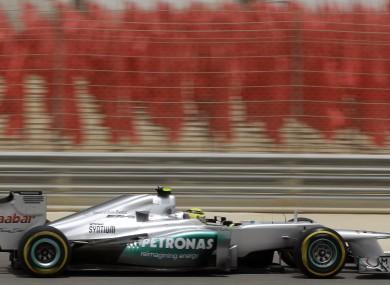 Mercedes Grand Prix driver Nico Rosberg this morning.