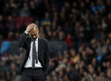 Over and out: Guardiola is likelt
