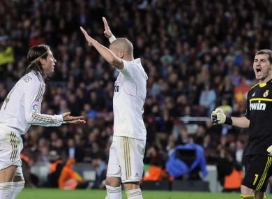 Real Madrid celebrate after a sensational win