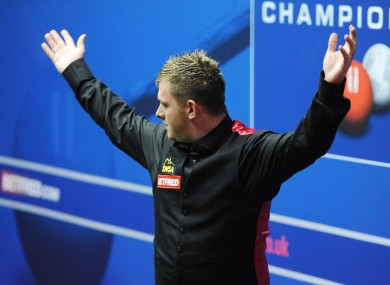 Mark Allen reacts to last night's defeat.