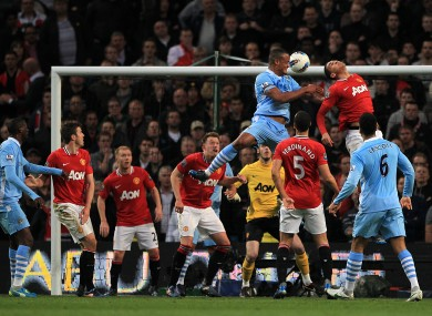 Vincent Kompany rises above it
