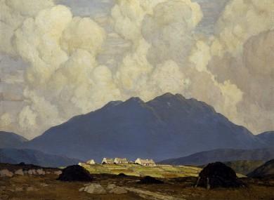 A Connemara Village by Paul Henry