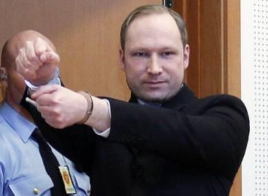 Anders Behring Breivik in court in February