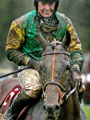 Robert Jones on board Caim Hill at Punchestown yesterday. Filthy.