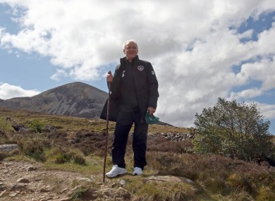 Trap spoke to reporters at Croagh Patrick yesterday.