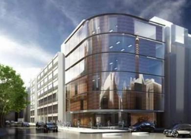 Artist impression of new London hospital