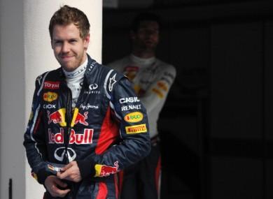 Red Bull Racing's German driver Sebastian Vettel earlier.