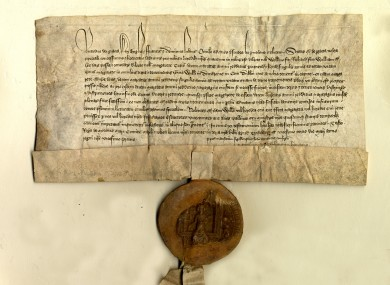 Original Irish chancery letter 1398