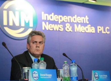 Former IN&M chief executive Gavin O'Reilly at last year's AGM.