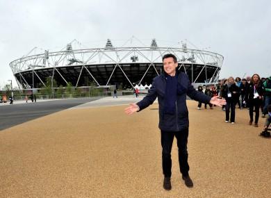 Seb Coe at the London Olympic Stadium.