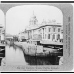 The Custom House on the quays in Dublin city centre, 1908. (Library of Congress, Prints & Photographs Division)