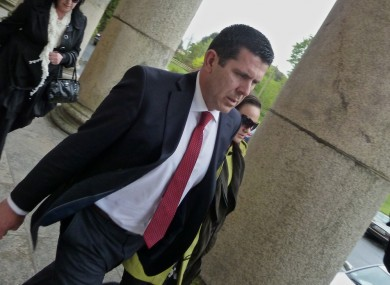 Fred Forsey leaving Waterford Circuit Court today following the guilty verdict.