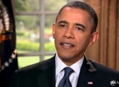 Obama speaking to ABC News yesterday.