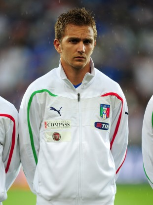 Criscito lines out against Ireland in a friendly.