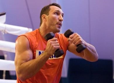 Wladimir in training.