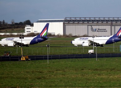 Planes at Shannon Airport