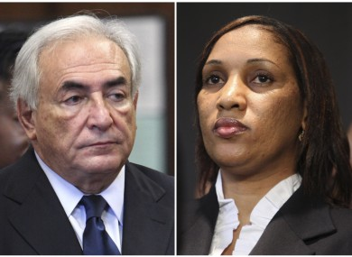 Composite photograph showing former IMF leader Dominique Strauss-Kahn and Nafissatou Diallo