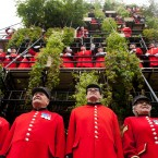 Chelsea Pensioners open Diarmuid Gavin's Westland Magical Garden, a 24-metre-high seven-tiered garden display. (Dominic Lipinski/PA Wire)