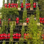 Chelsea Pensioners at the Westland Magical Garden designed by Diarmuid Gavin. (Dominic Lipinski/PA Wire)
