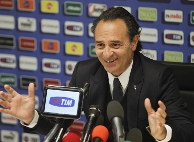 Cesere Prandelli has cut his panel this afternoon.