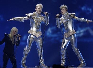 Jedward performing on Tuesd