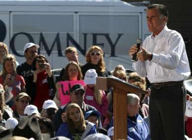Mitt Romney speaking in Craig, Colorado earlier today.