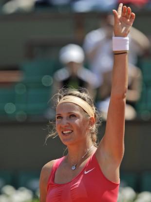 Azarenka beat Dinah Pfizenmaier 6-1, 6-1.